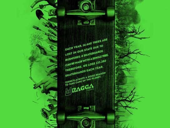 Ragga Magazine Print Ad -  Skateboard