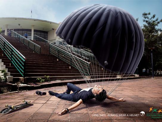 Thai Health Promotion Foundation Print Ad -  Skateboard