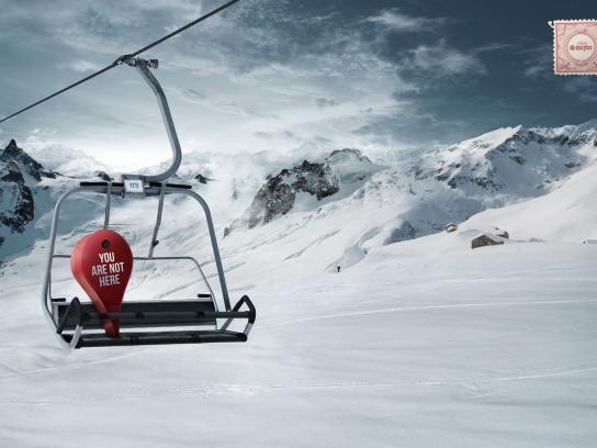 Viajes Print Ad -  Skiing
