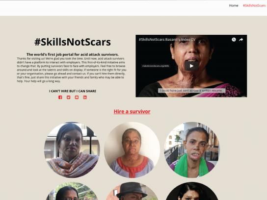 Make Love Not Scars Digital Ad - Basanti's video CV