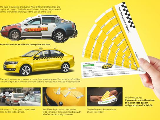 Skoda Direct Ad -  All-Yellow Palette
