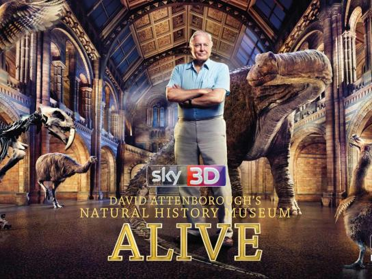 SKY Outdoor Ad -  David Attenborough's Natural History Museum ALIVE