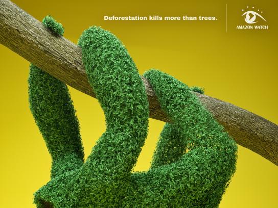 Amazon Watch Print Ad - Topiary Terror - Sloth