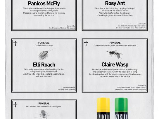 Izikill Print Ad -  Obituaries