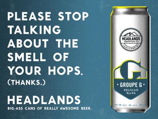 Headlands Print Ad -  Hops