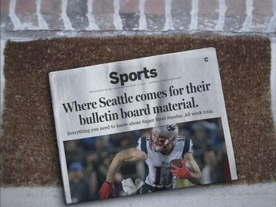 The Boston Globe Print Ad -  Bulletin board