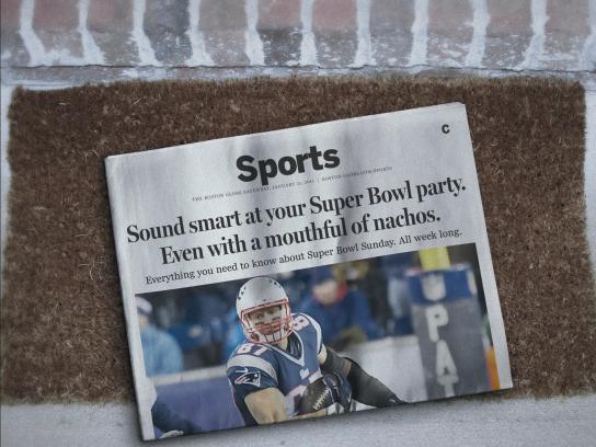 The Boston Globe Print Ad -  Nachos