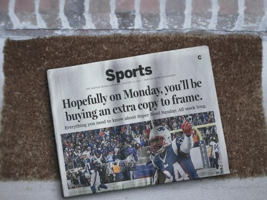 The Boston Globe Print Ad -  Monday