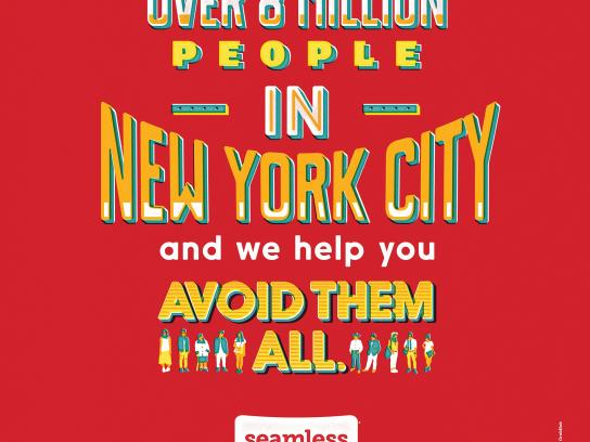 Seamless Print Ad -  How New York eats, 5