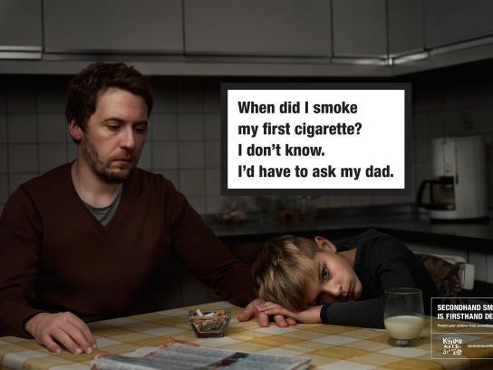 Deutsche Kinderkrebsstiftung Outdoor Ad -  Secondhand smoke, 2