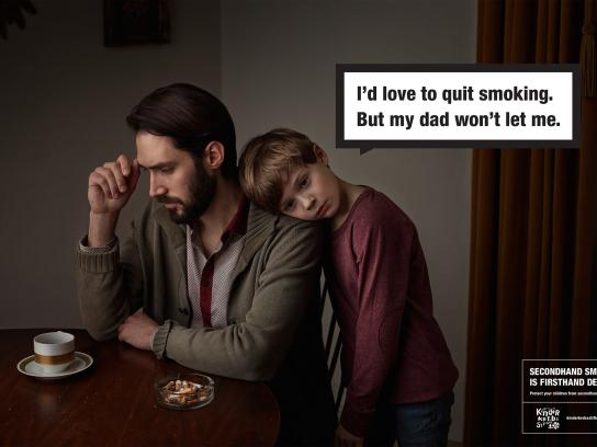 Deutsche Kinderkrebsstiftung Outdoor Ad -  Secondhand smoke, 3