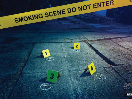 Allen Carr Print Ad - Smoking Scene - Backstreet