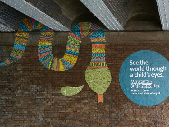 V&A Museum of Childhood Outdoor Ad -  Snake