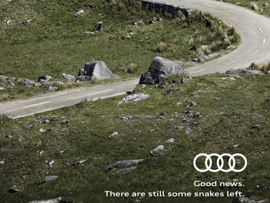 Audi Print Ad - Saint Patrick's Day Snakes