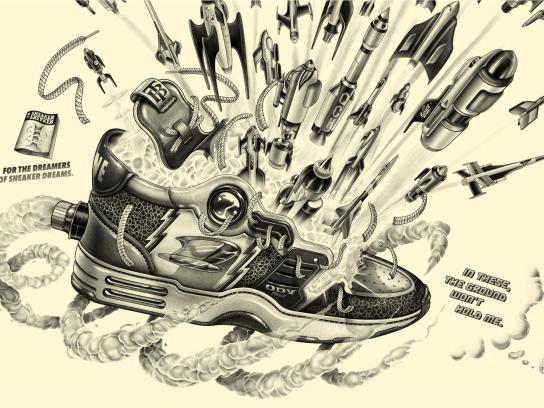 Sneaker Freaker Outdoor Ad -  Ground