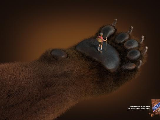 Snickers Print Ad -  Bear