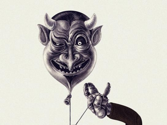 Snickers Print Ad - Balloons, Evil