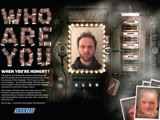 Snickers Digital Ad -  The Hungry-Me Generator