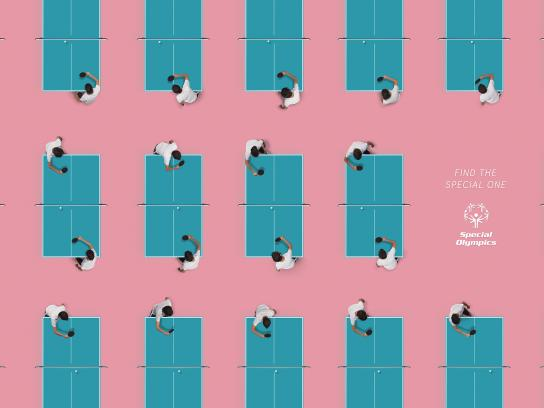 Special Olympics Print Ad - Patterns - Ping Pong