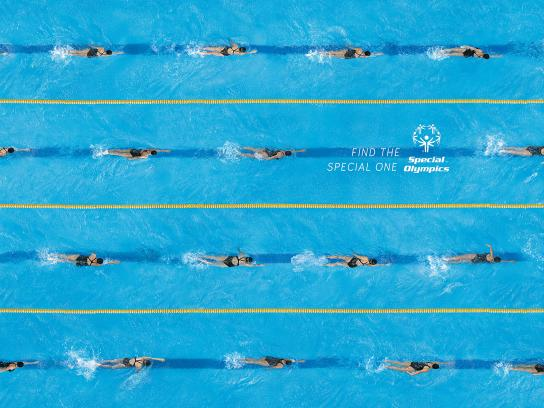 Special Olympics Print Ad - Patterns - Swimming