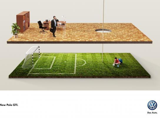 Volkswagen Print Ad -  Soccer