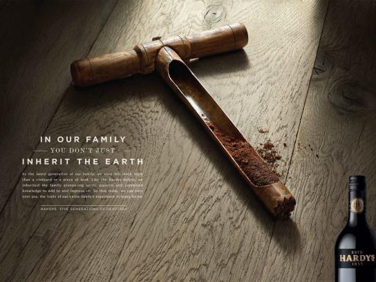 Hardys Wine Print Ad -  Soil
