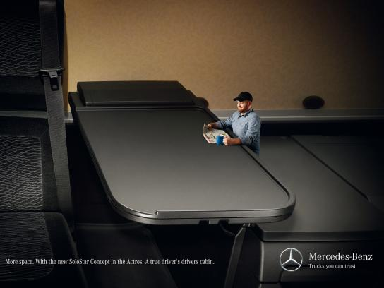 Mercedes Print Ad -  More space, 3