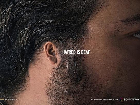SOMOSGAY Print Ad - Hatred is Deaf, 3