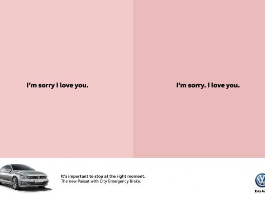 Volkswagen Print Ad -  Sorry