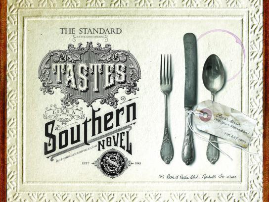 The Standard Print Ad -  Southern novel