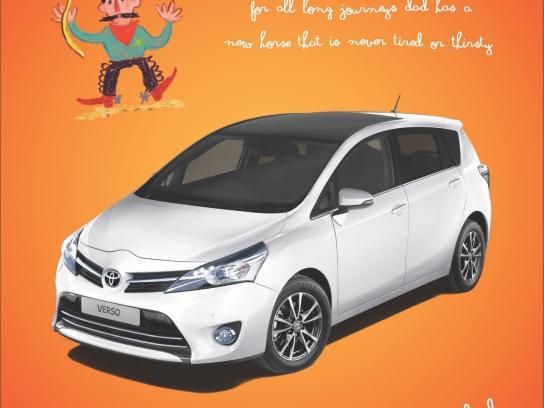 Toyota Print Ad -  Cowboy
