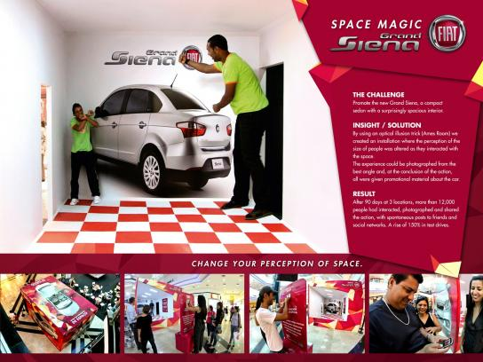 Fiat Ambient Ad -  Change your perception of space