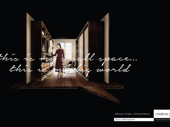 Creative Closets Print Ad -  Space Management