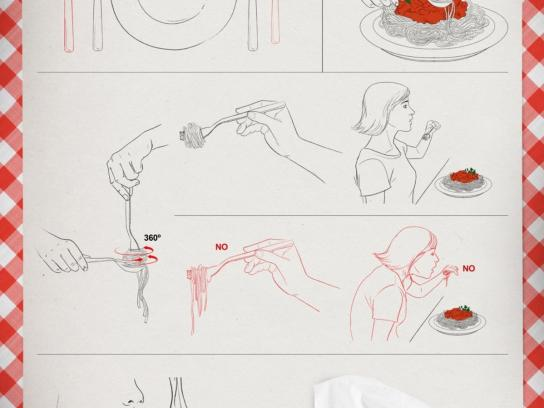 Trenet Print Ad -  Spaghetti