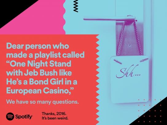 Spotify Outdoor Ad - One night stand