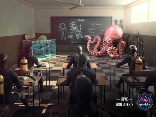 Spondylus Print Ad - Octopus