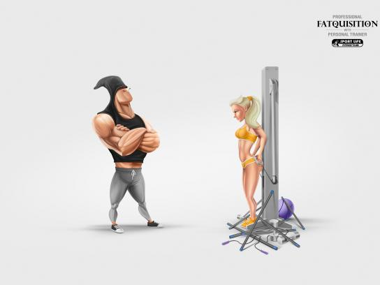 Sport Life Fitness Club Print Ad - Fatquisition