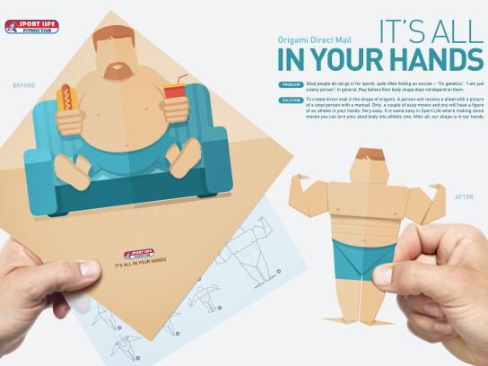 Sport Life Fitness Club Direct Ad -  It's all in your hands