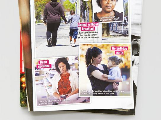 WoodGreen Print Ad -  Single Mom Celebrities, Spotted