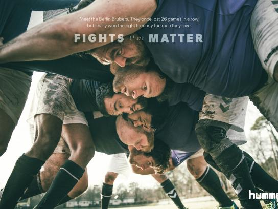 Hummel Print Ad - Fights That Matter - Bruisers