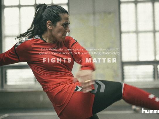 Hummel Print Ad - Fights That Matter - Khalida