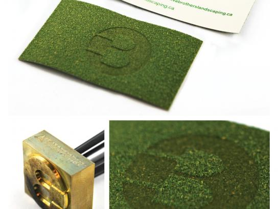Brothers Landscaping Direct Ad -  Turf Business cards