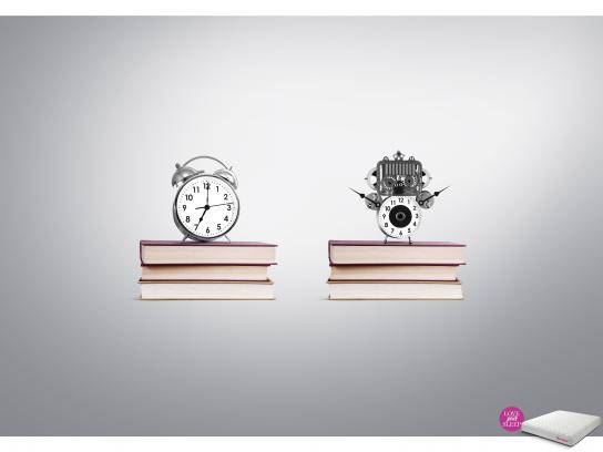 Springwel Print Ad - Love your Sleep - Alarm Clock