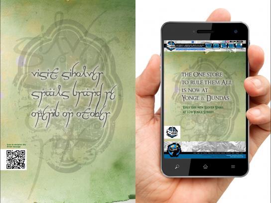 Silver Snail Print Ad -  Elvish