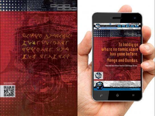 Silver Snail Print Ad -  Klingon