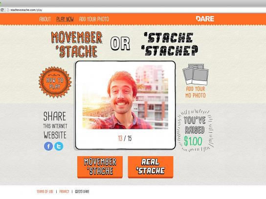 Movember Digital Ad -  Stache vs. Stache