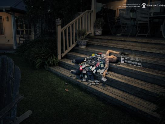 Save the Children Print Ad - Stairs
