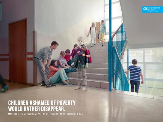 SOS Children's Villages Print Ad -  Stairs