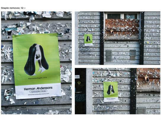 Herman Andersson Office Supplier Outdoor Ad -  Lots of staples