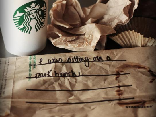Starbucks Print Ad -  Bench
